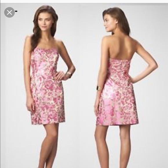 454053f7758 Lilly Pulitzer Dresses   Skirts - Lilly Pulitzer metallic Raya dress size  six